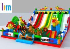 四川阿坝充气城堡生产厂家 熊出没儿童滑梯