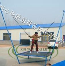 上海儿童钢架蹦极乐园图片 单人迷你蹦极床