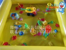 兒童充氣沙池價格158 40平方大型充氣沙池