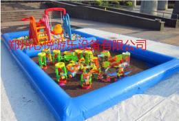 贵州决明子沙滩池充气海洋球池厂家直销