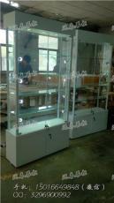 2016热门定制展示柜可调节led灯玻璃层板柜